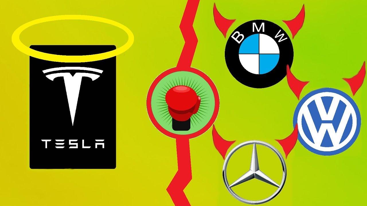 Tesla vs. deutsche Autobauer